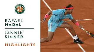 ... watch the best moments from match that opposed rafael nadal and jannik sin...