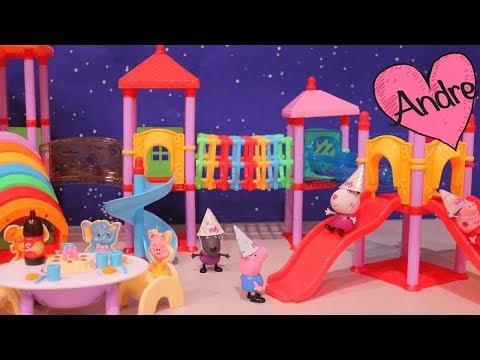 Peppa Pig Hace Fiesta De Cumpleaños Para George!!! Muñecas Y Juguetes Con Andre Para Niñas Y Niños