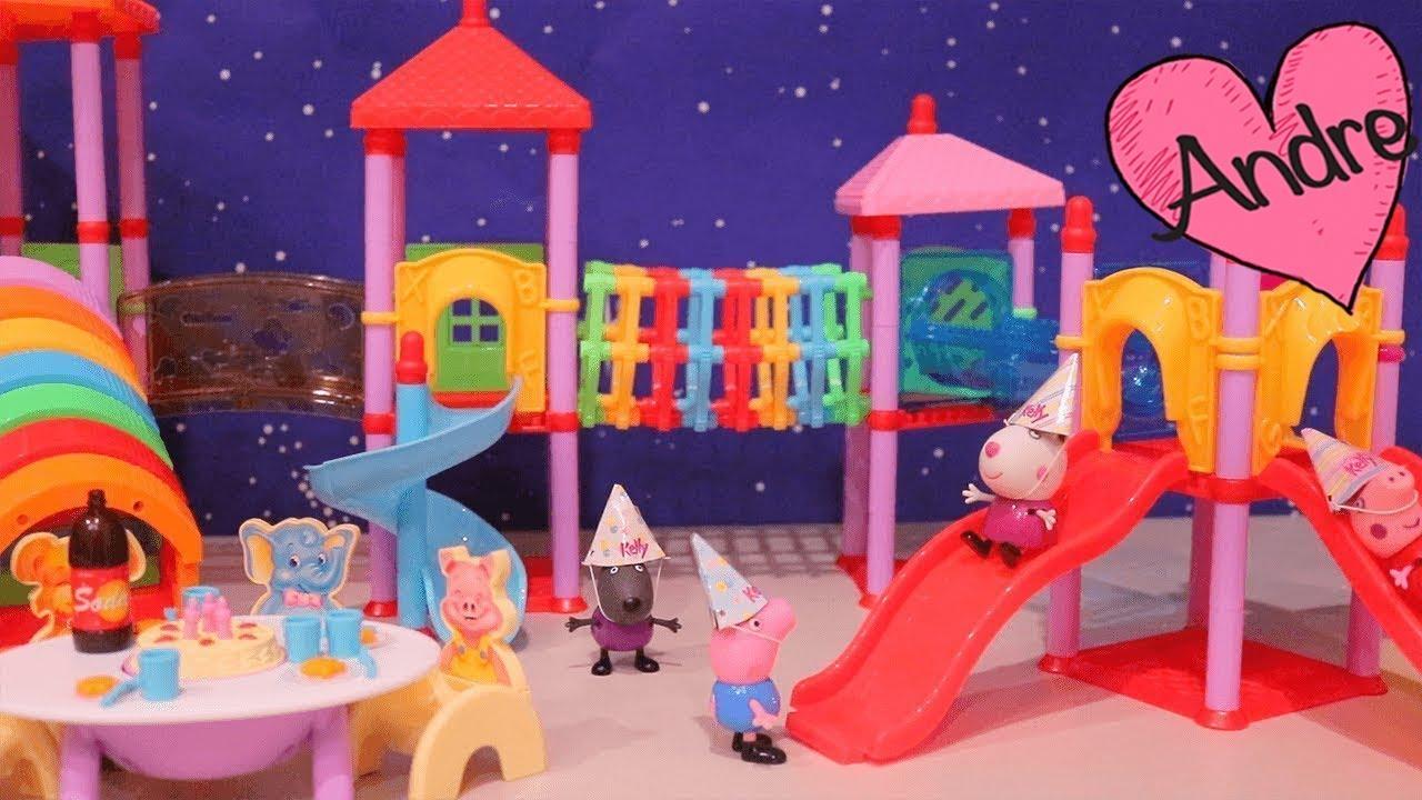 Peppa Pig Hace Fiesta De Cumpleaños Para George Muñecas Y Juguetes Con Andre Para Niñas Y Niños Youtube