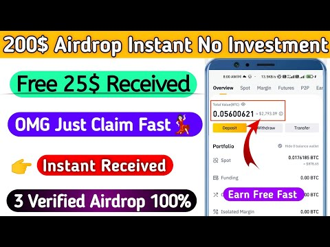 TRUST WALLET AIRDROP TODAY |500$ Claim Instant Airdrop |  New Airdrop Instant Withdraw | #Airdrop