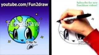 Earth Day  How to Draw a Cute Earth Kawaii Drawings)