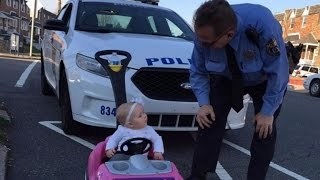 8-Month-Old Girl Gets Pulled Over By Police While 'Driving' Toy Car