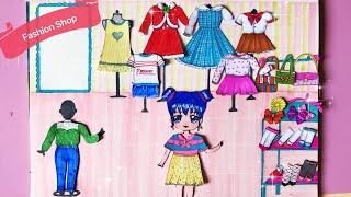 Hướng dẫn làm Shop Thời Trang cho Búp Bê Giấy - Fashion shop for paper Doll