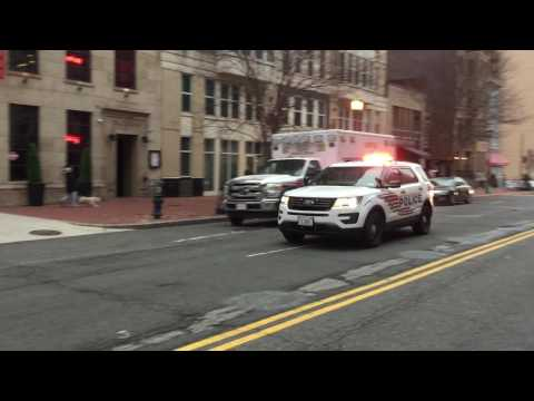 WASHINGTON DC POLICE UNIT, U.S. SECRET SERVICE UNIT & FIRE DEPARTMENT UNIT STAGING AT INAUGURAL.