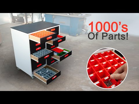 Building The Ultimate assortment Cabinet! - 3D Printed assortment boxes!