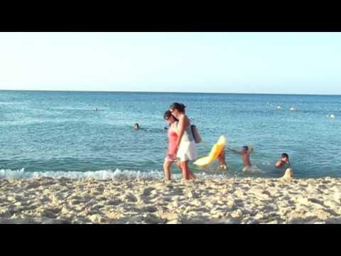 Nadando en Cala Mesquida - 2008