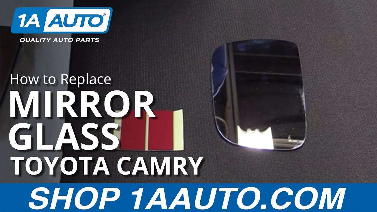 How To Replace Install Mirror Glass 97 01 Toyota Camry