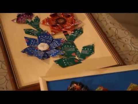 что можно сделать из фантиков от конфет своими руками
