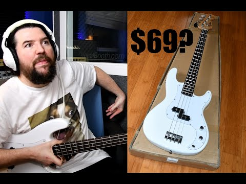 A bass for $66.99 shipped!  Bass recording on a budget.