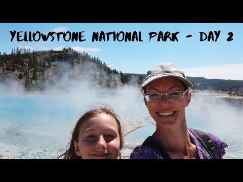 Day 2 of Yellowstone NP, Geysers, Prismatic Spring, & Buffalo -Van Life