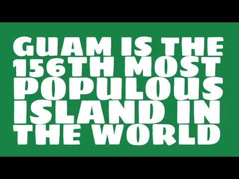 How many people live on the island of Guam?