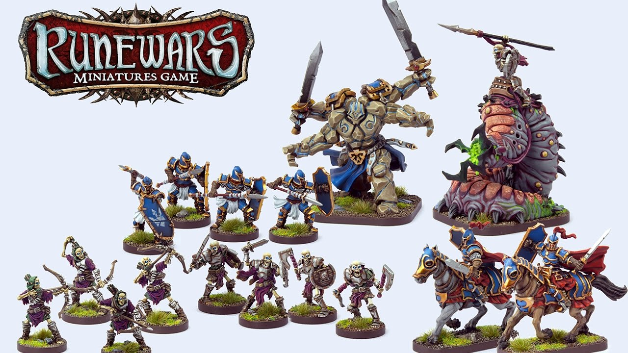 runewars the miniatures game unboxing youtube