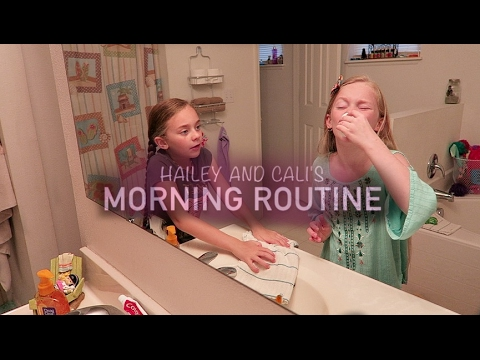 Hailey & Cali's Morning Routine | Getting Ready for School Edition