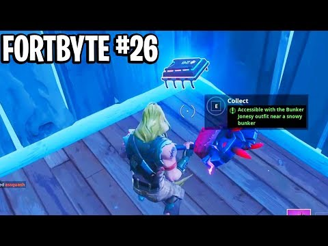 NEW FORTBYTE #26 LOCATION! Accessible with the Bunker Jonesy Outfit near a Snowy Bunker Location!