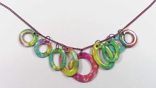 Using Gelli Prints and Ice Resin to Make a Necklace