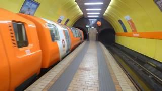 Tiny underground trains in Glasgow