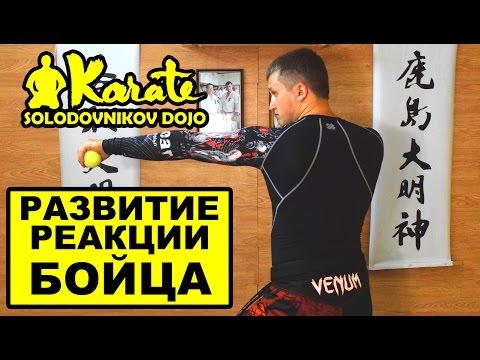 Развитие реакции и ловкости для бойца каратэ | мма | бокс | таэквондо | the reaction of the fighter