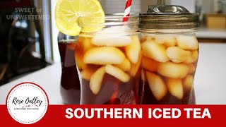 Southern Iced Tea | Sweet Tea | Sweet Iced Tea | Unsweetened Iced Tea | Texas Tea
