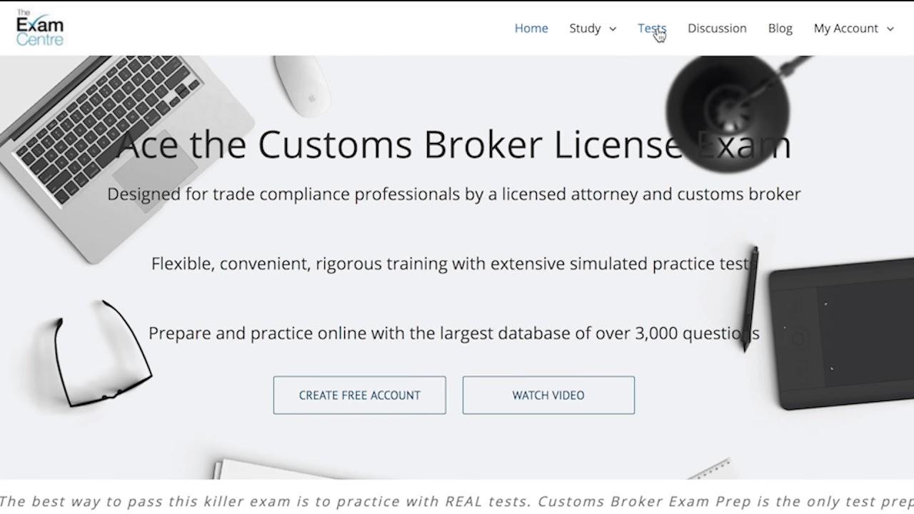 Customs Broker Exam Online Prep Course | Best Training
