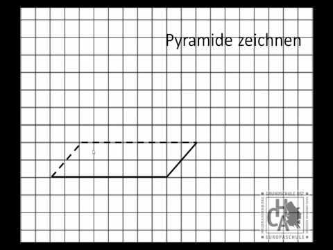 Pyramide in der Perspektive zeichnen