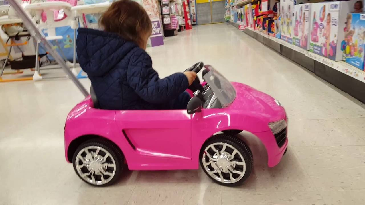 little girl driving the pink car youtube. Black Bedroom Furniture Sets. Home Design Ideas