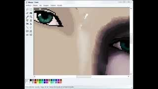 How to draw a woman in MS Paint 3 by Shukei