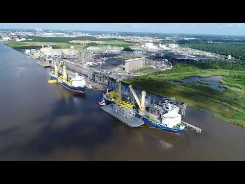 Spectacular Aerial Footage of Jumbo's Fairmaster & Jumbo Kinetic together in Lake Charles 2017