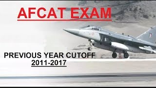 AFCAT 02/2018 Expected Cut Off | Previous Year Cut Off
