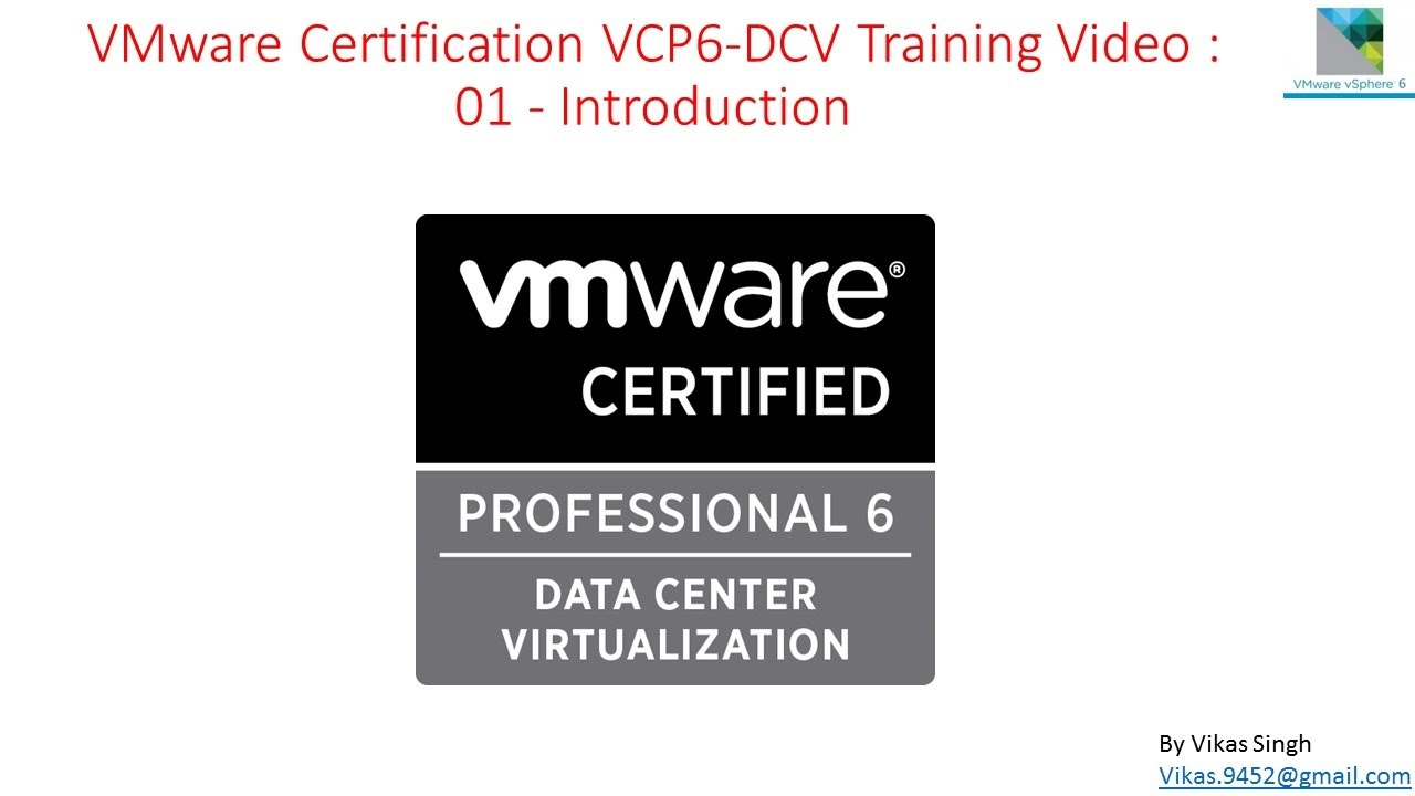 Vmware Certification Vcp6 Dcv Training 01 Introduction Vmware