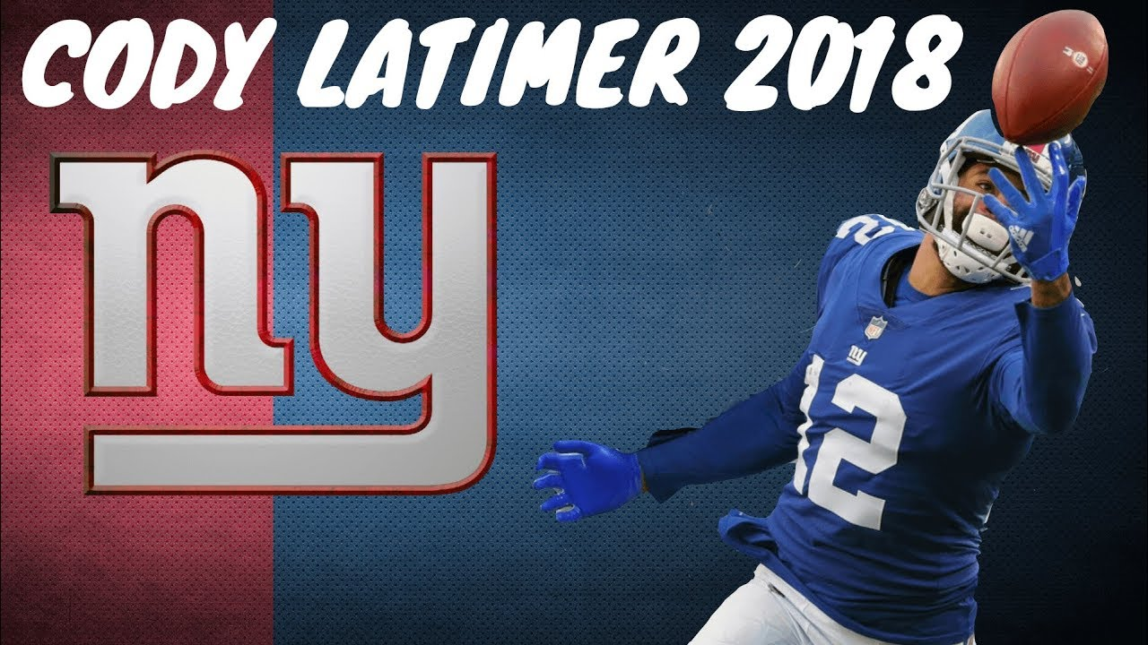 the latest 092be 99663 Cody Latimer 2018 Giants Highlights