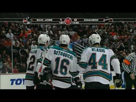 NHL Playoffs San Jose Sharks at Anaheim Ducks, April 21, 2009