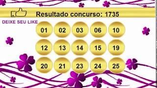 sorteio resultado lotofacil 1735 Palpite 1736