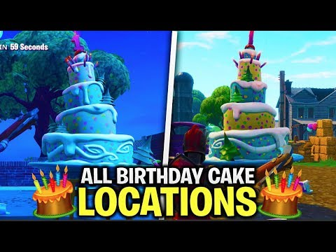 ALL BIRTHDAY CAKE LOCATIONS In FORTNITE - ALL