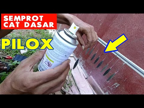 COBA PAKE PILOX... HASIL OK | METAL JIG SPRAY PAINT EPOXY
