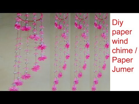 DIY JUMER WITH PAPER/Handmade Wind chime craft/Best out of waste/Decor craft/Creative Art