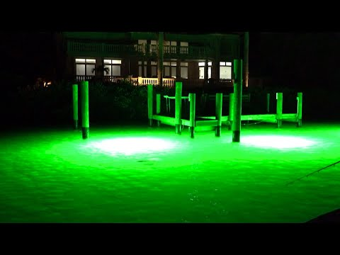 Fishing GREEN Dock Lights for Snook