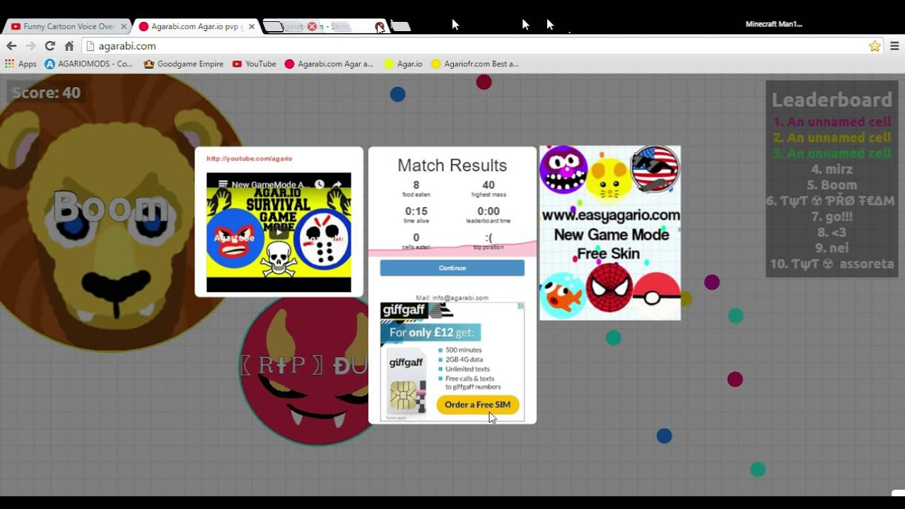 Agariofr agario fun | agariofr blob wars #1 - youtube