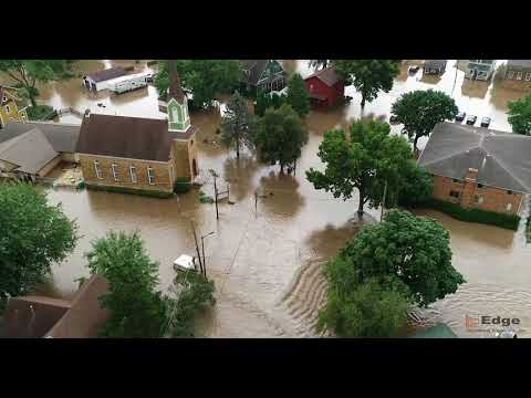 Edge Drone Services - Mazomanie Flood Aug 21 2018