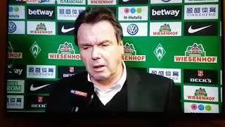Werder Bremen vs HSV 2018. Peinlich Interview von Hamburg Chef Bruchhagen zum totlachen😂😂😂