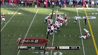 2013 BYU at Wisconsin Football Highlights
