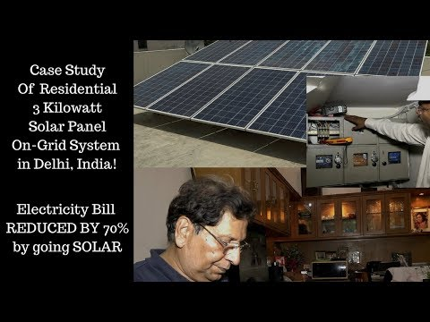 Reduce Electricity Bill | 3 KW On Grid Solar System Delhi | Working | Costs | Appliances | ROI