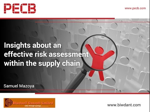 Insights about an effective risk assessment within the supply chain