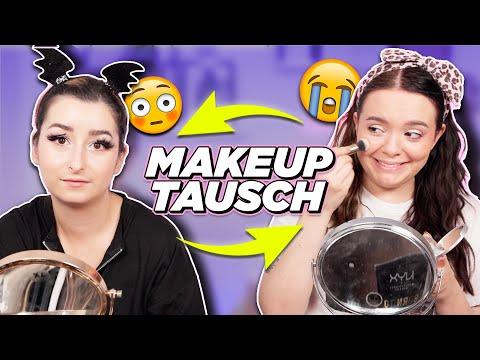 MAKEUP TAUSCH! 🔁 Beste Freundinnen tauschen Makeup Routinen! 😂
