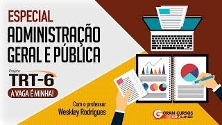 Concurso TRT 6   Especial Administração Geral e Pública