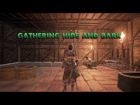 Conan Exiles - How to get bark and hide fast