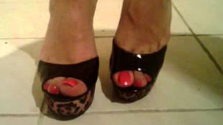 Dephsacha Crossdresser Lola Red High Heels Mule Feet Fetish My Sexy Feet