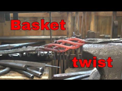 Forge welded basket twist - basic blacksmithing welded twists part 1