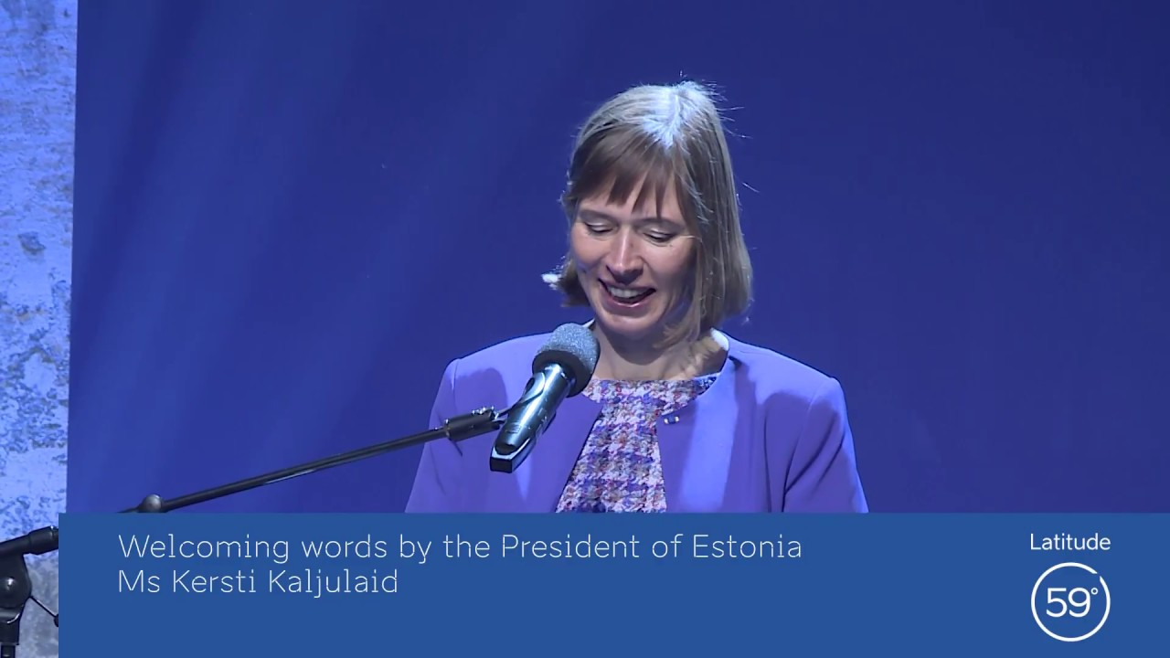 President of Estonia, Kersti Kaljulaid @Latitude59 2017