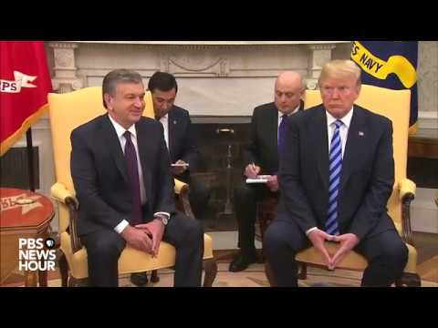 WATCH: President Trump holds meeting with Uzbek President at White House