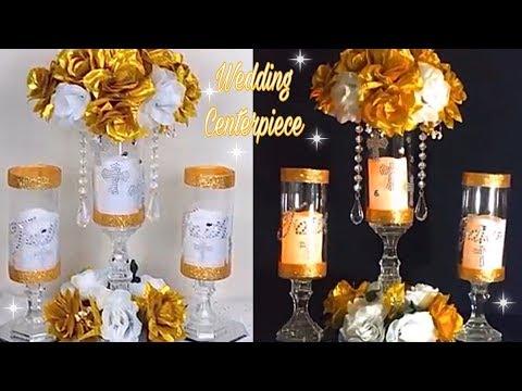 diy-gold-and-white-elegant-lit-wedding-centerpiece-/-diy-tutorial